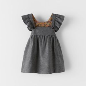 NWT 9-12 month flannel pinafore dress